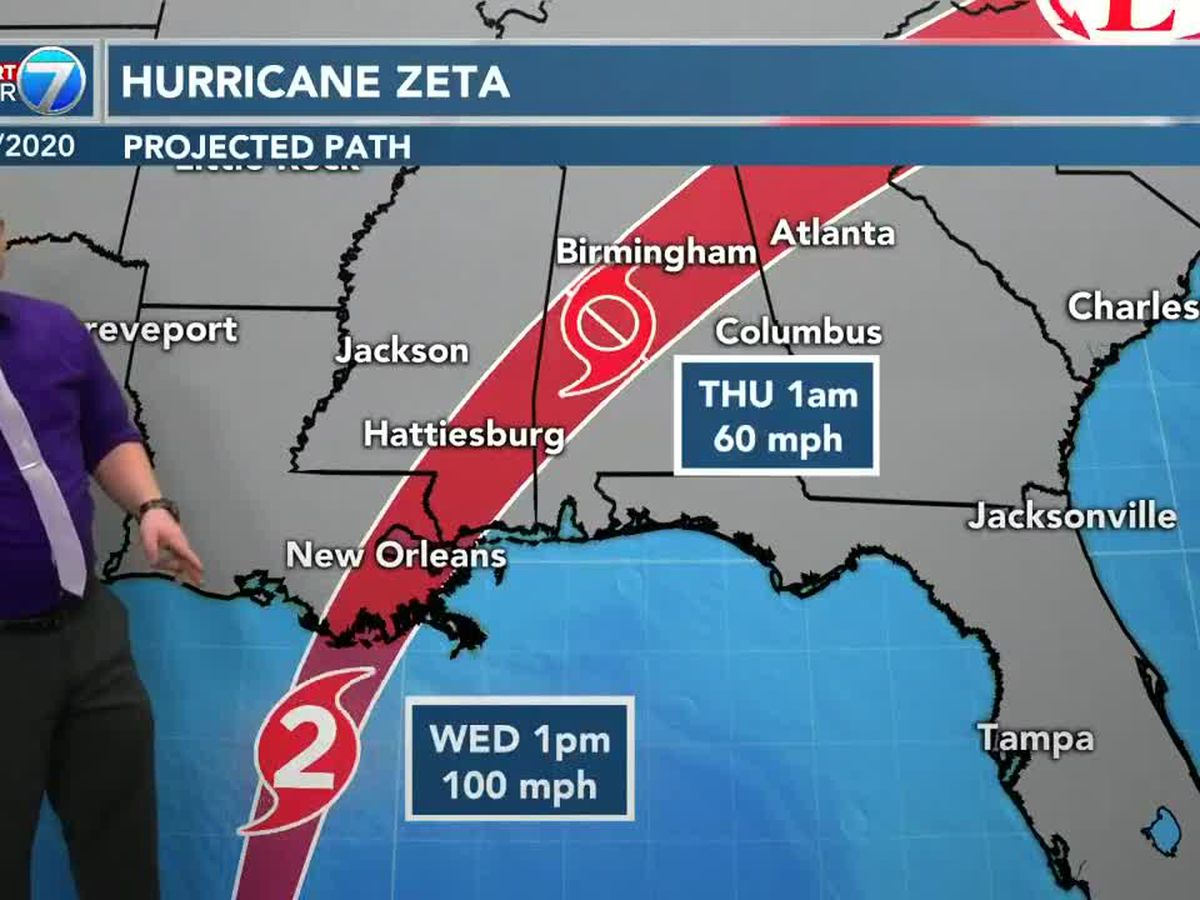 Zeta to move through Pine Belt Wednesday night