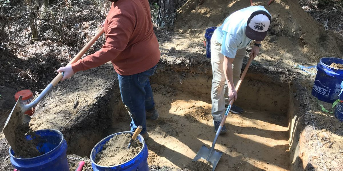 Researchers excavate WWI-era training trenches at Camp Shelby