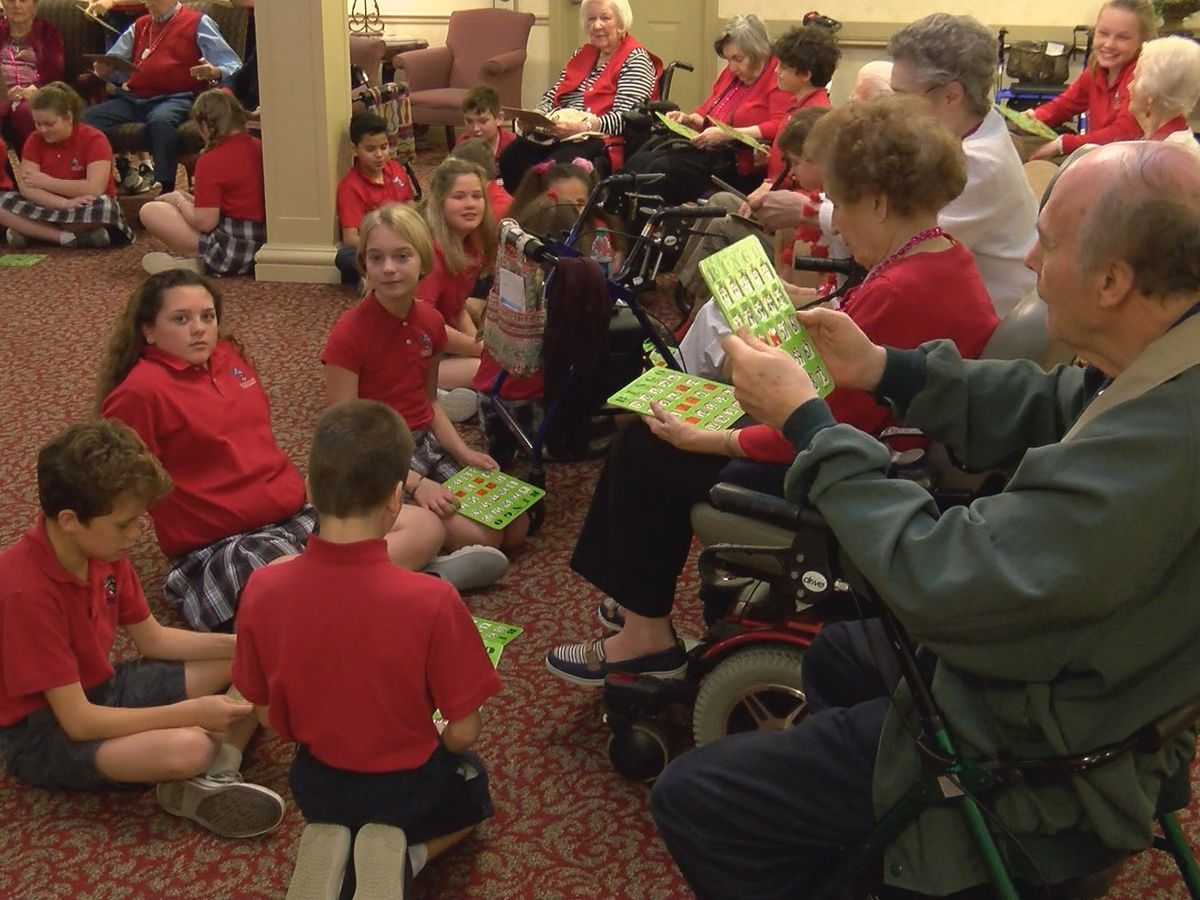 Sixth graders spend Valentine's day at Provision Living