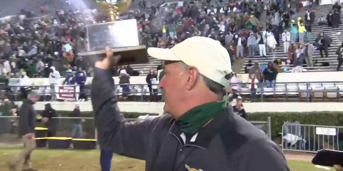 West Jones wins 1st state football championship