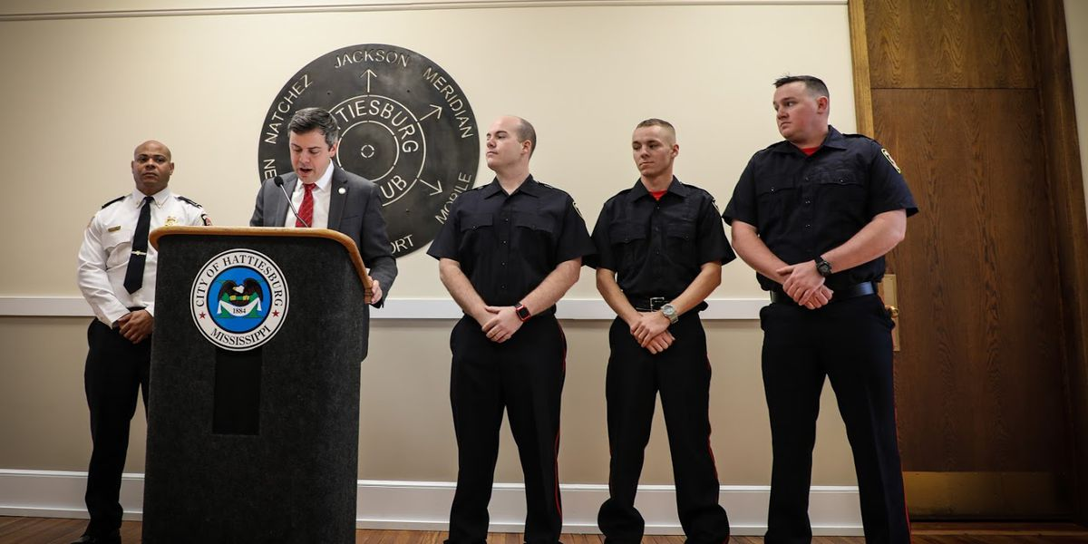Hattiesburg Fire Department adds three firefighters