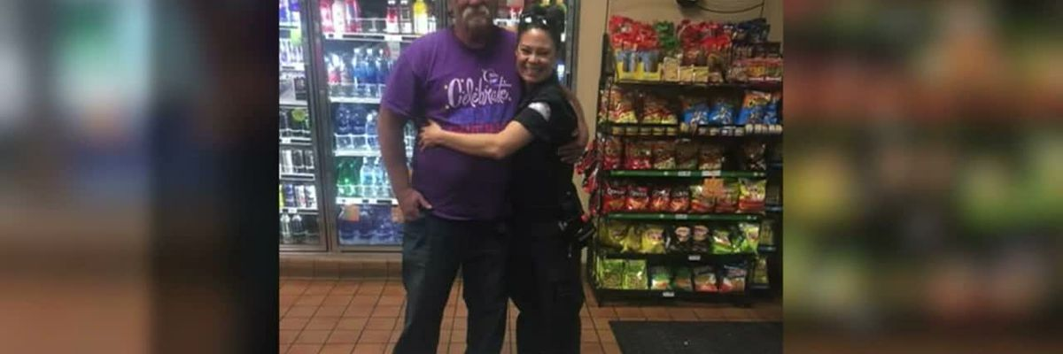 Paramedic reunites with homeless man she helped years ago