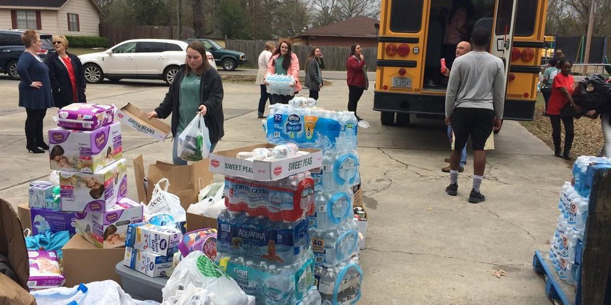 Gulf Coast students deliver relief supplies for tornado victims