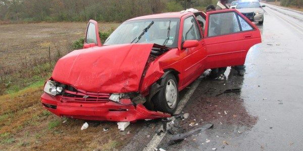 One charged after head-on collision injures three in Jones County