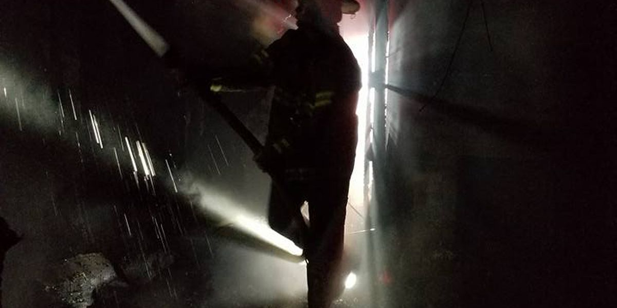 Firefighters battle overnight house fire in Covington Co.