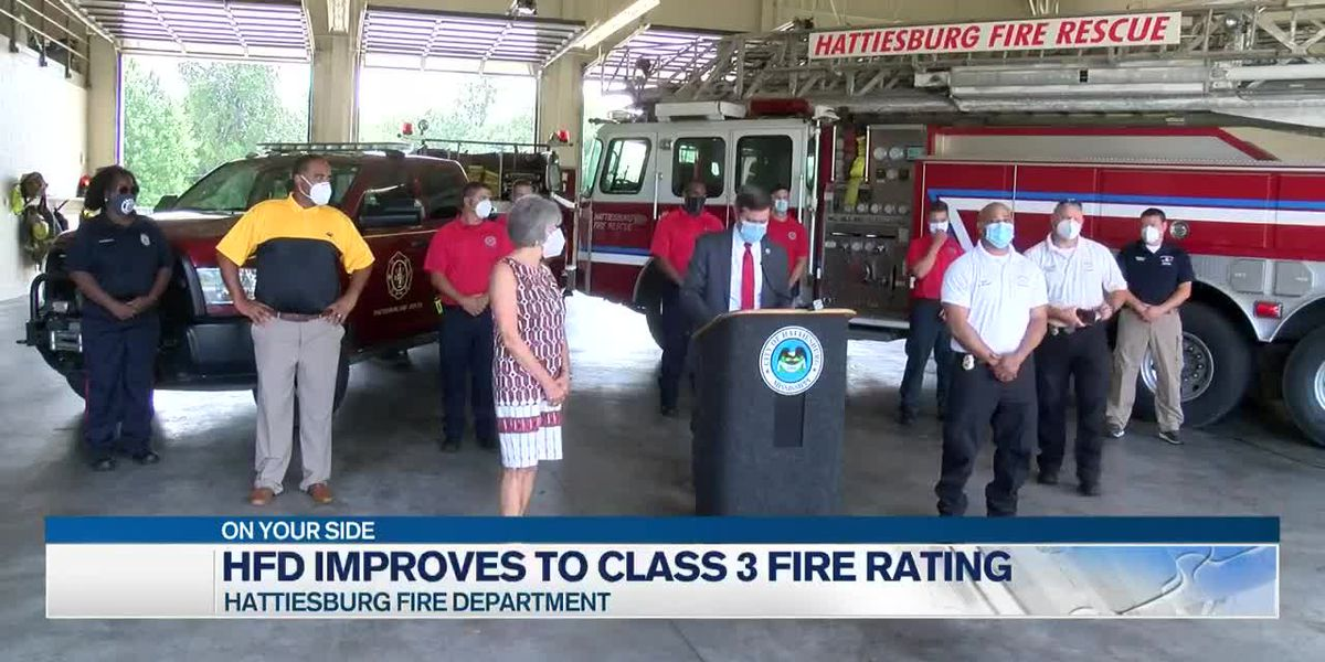 Hattiesburg Fire Department improves to Class 3 fire rating
