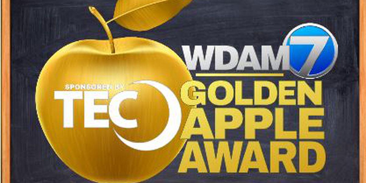 West Jones Elementary teacher wins Golden Apple Award