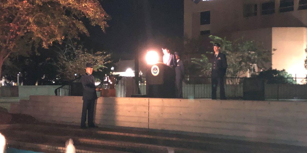 USM cadets remember the fallen at the Veterans Memorial Wall