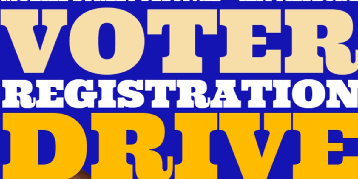 Voter registration drive will be at Mobile Street Festival