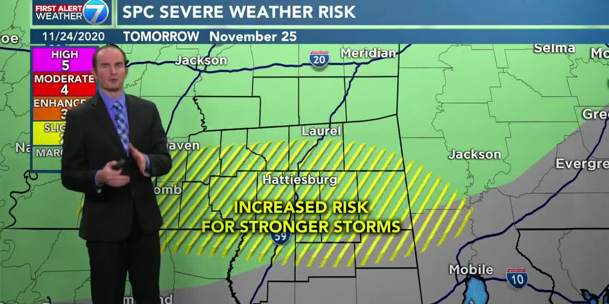 Chance for severe storms Wednesday