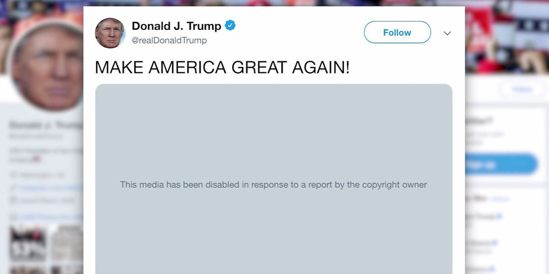 Twitter removes Trump's 'Dark Knight Rises' tweet
