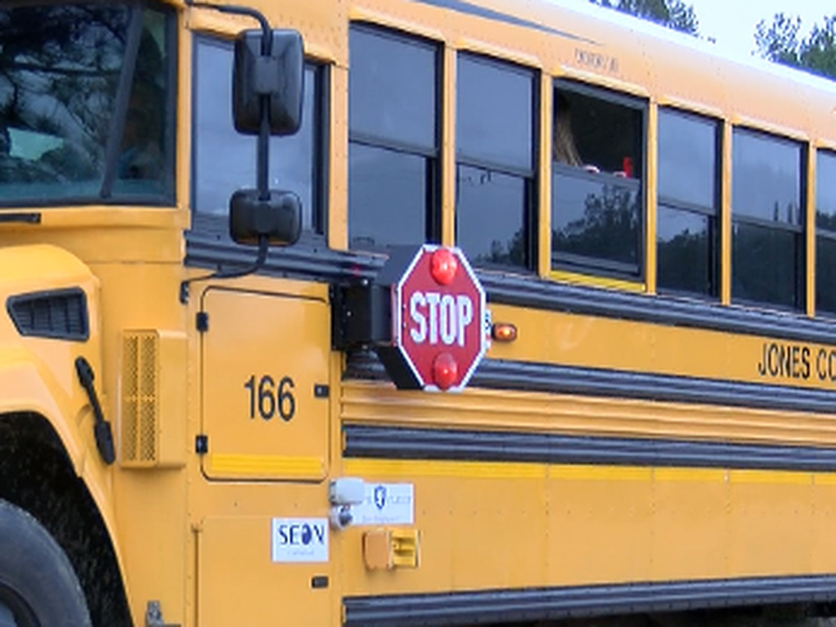 Jones County schools demonstrate new safety technology for school buses