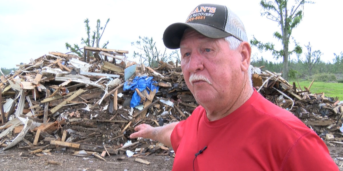 Jones County debris cleanup continues following Easter tornado