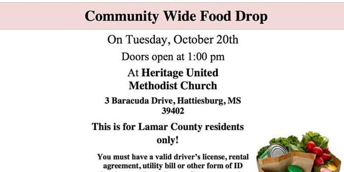 Hattiesburg church holds food giveaway