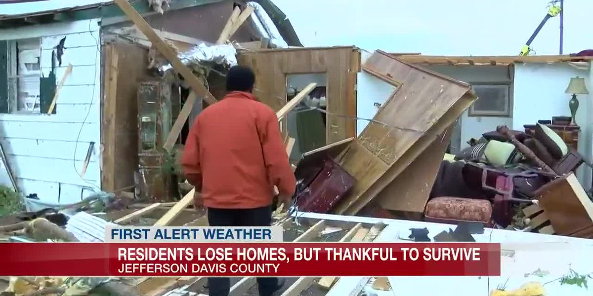 'We were just happy to be alive': Residents recount moment tornado struck in Jefferson Davis Co.