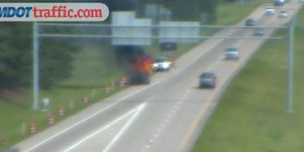 TRAFFIC ALERT: Vehicle catches fire on I-59 near Lucedale/Mobile exit