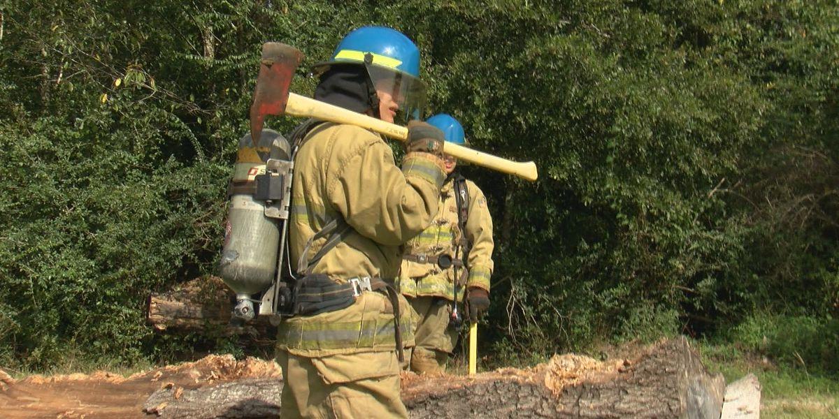 Hattiesburg Fire Dept. recruits halfway through academy