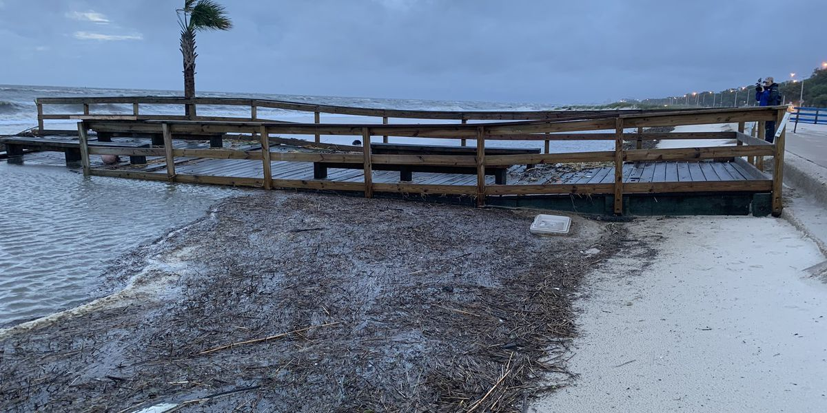 VIDEO: Cristobal washes Biloxi Lighthouse Pier away