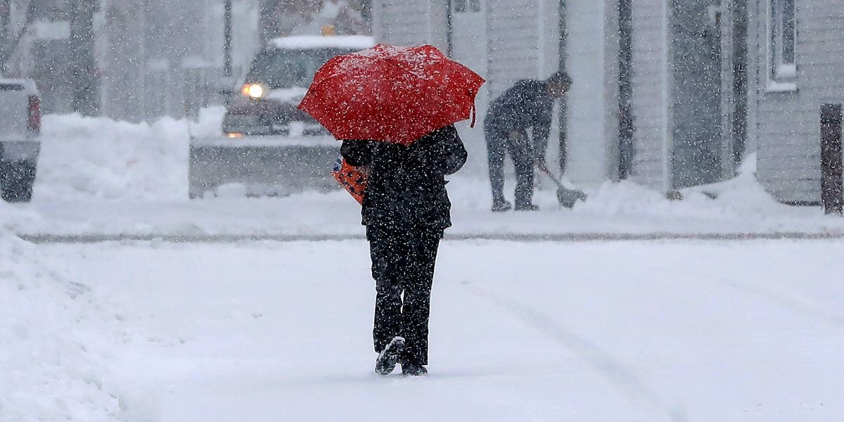 Wintry weather lingers in coastal New England