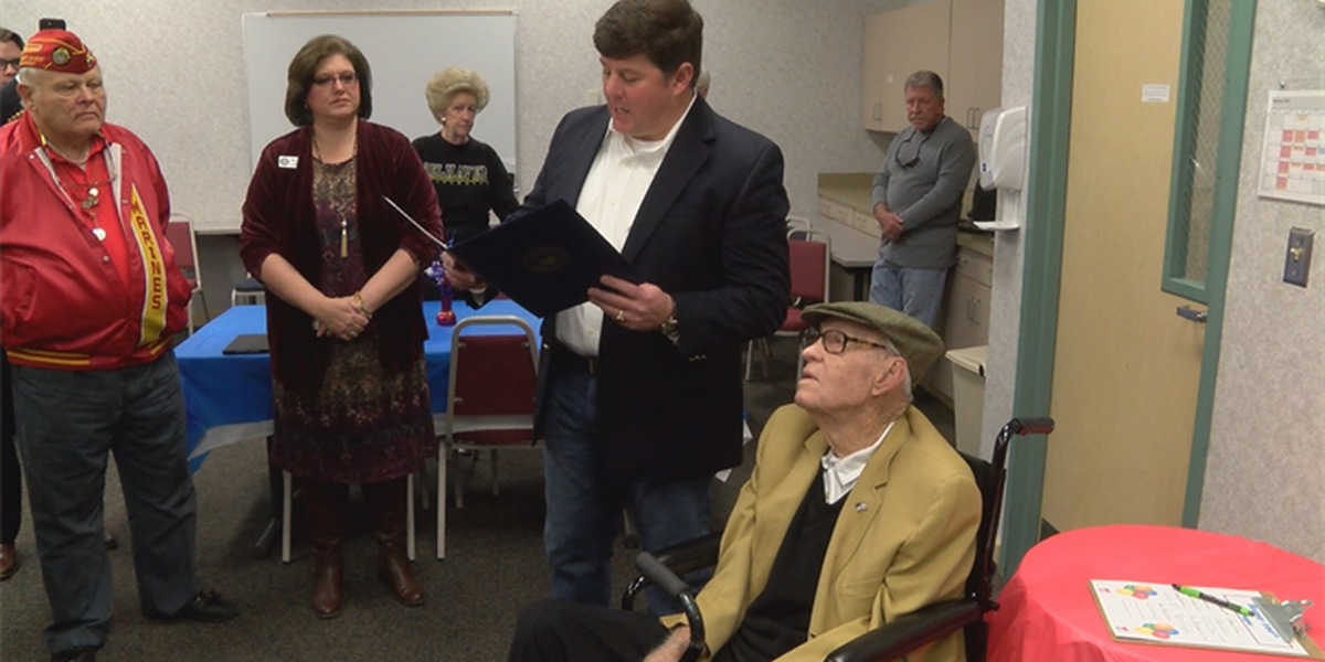 Marine Corps vet celebrates 100th birthday at FGH's LiveWell Center