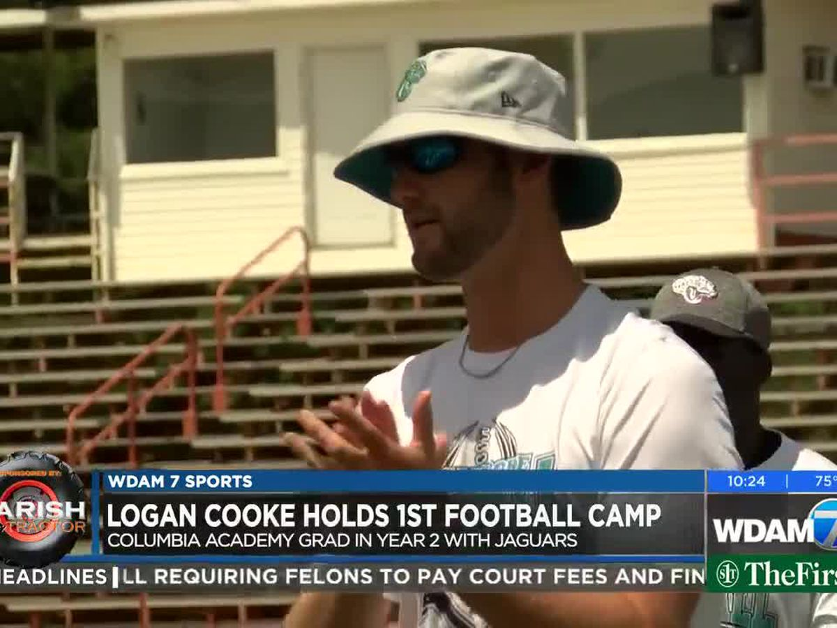 Logan Cooke hosts his first football camp at Columbia Academy