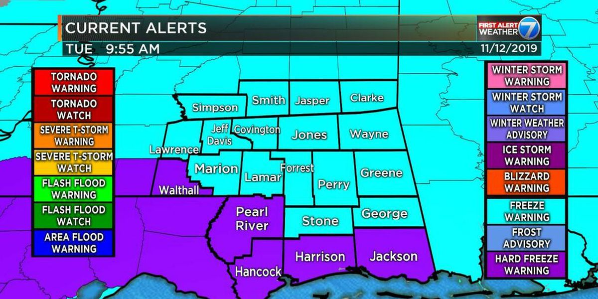 First Alert: Very cold night for Pine Belt