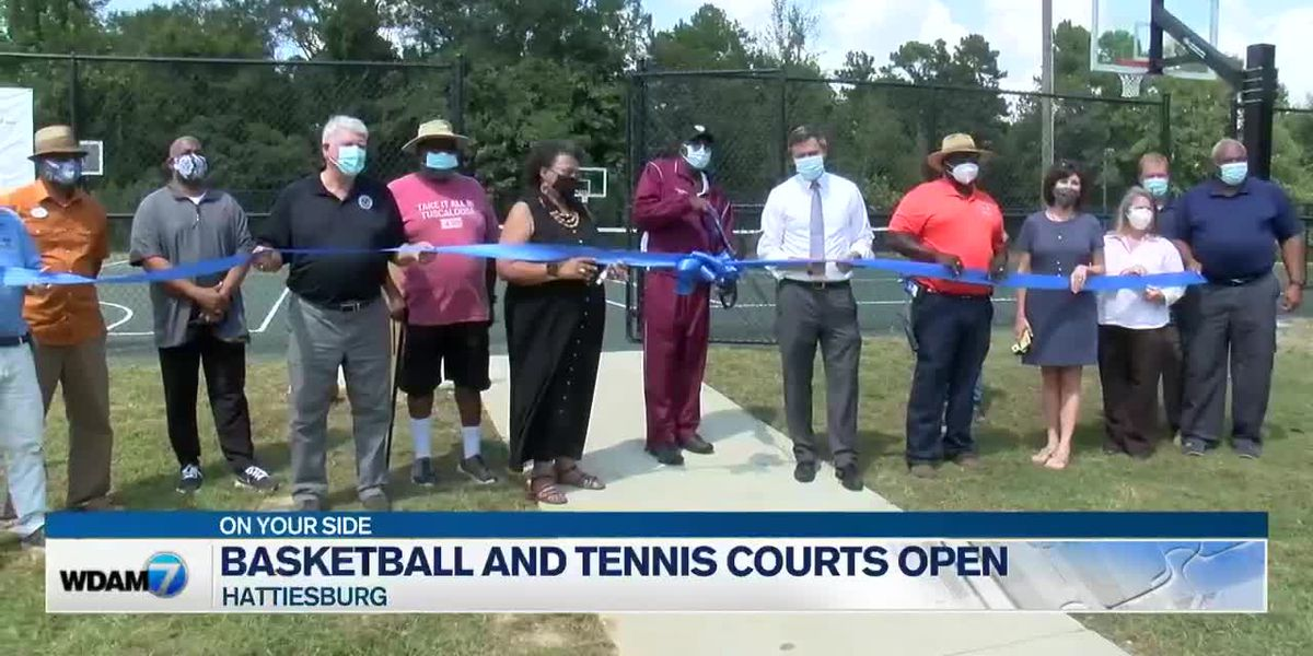 Ribbon-cutting held for new basketball, tennis courts in Hattiesburg