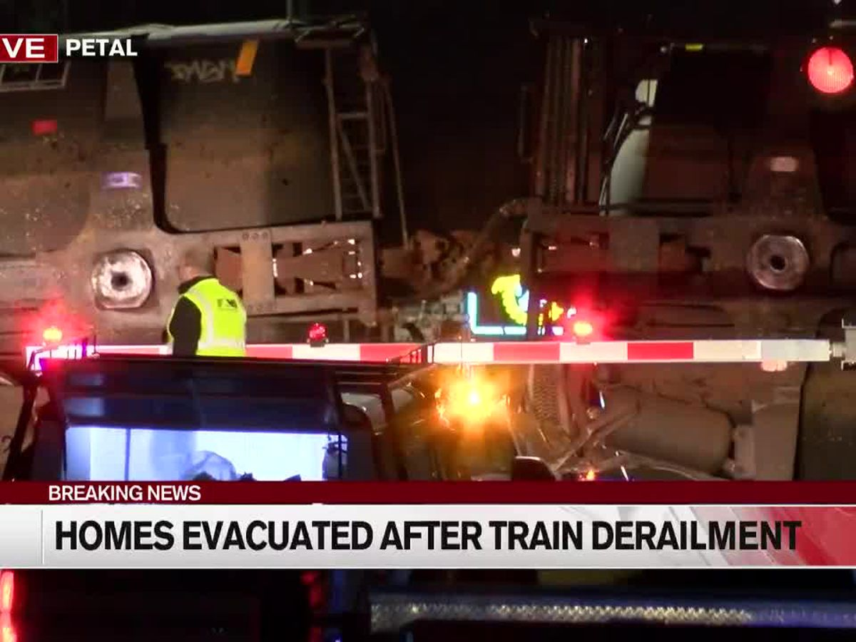 All roads back open after Petal train derailment, evacuees return home