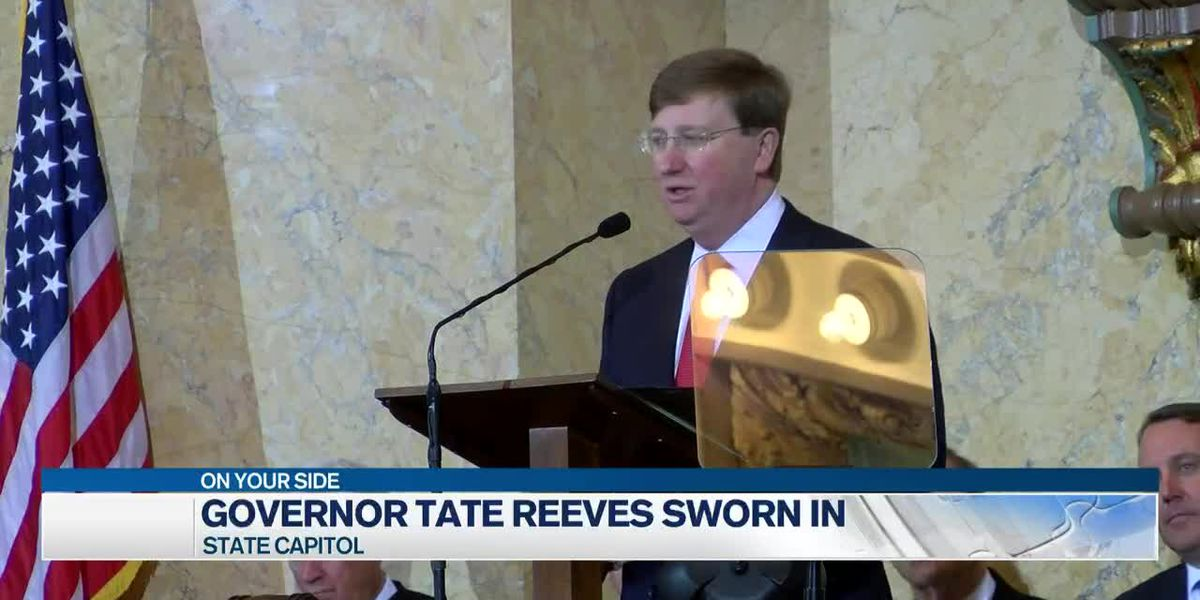 Tate Reeves sworn in as Mississippi's 65th governor