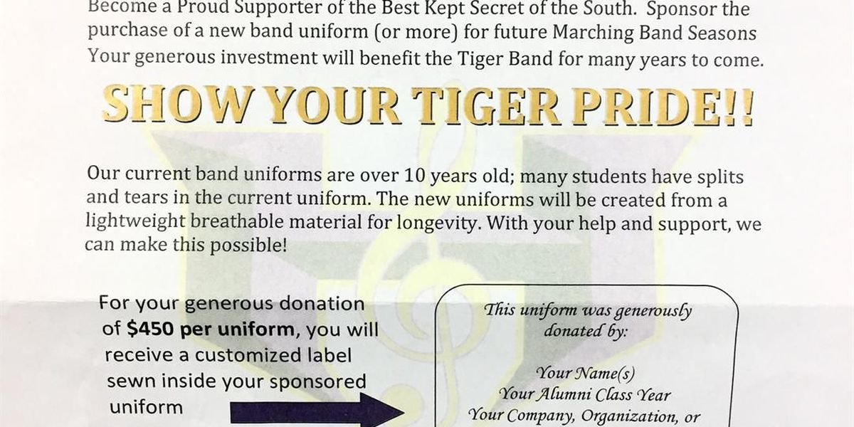 HHS looking to raise $20K for new band uniforms