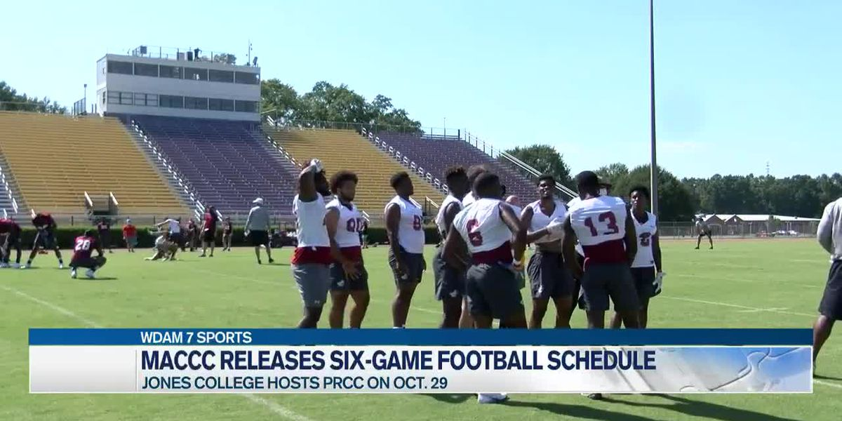 Jones College, PRCC football schedules set
