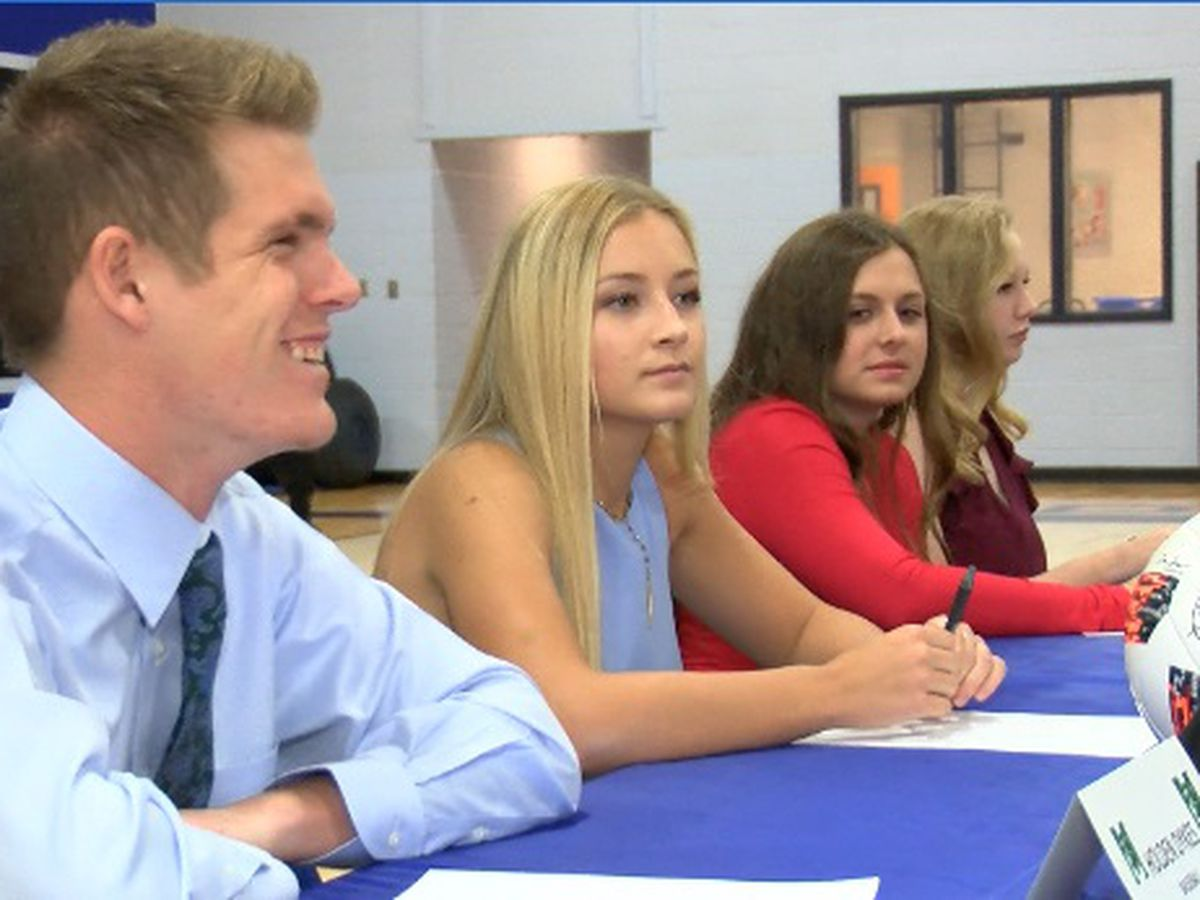 Four PCS Bobcats sign college scholarships