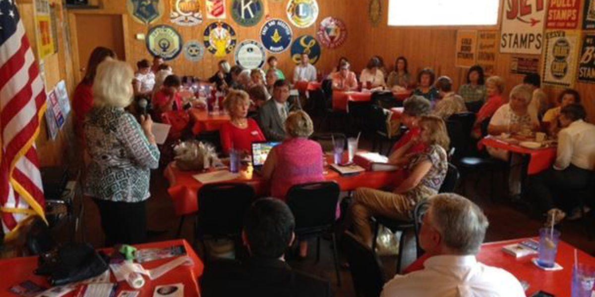 Runoff candidates attend Forrest Lamar Republican Women's luncheon
