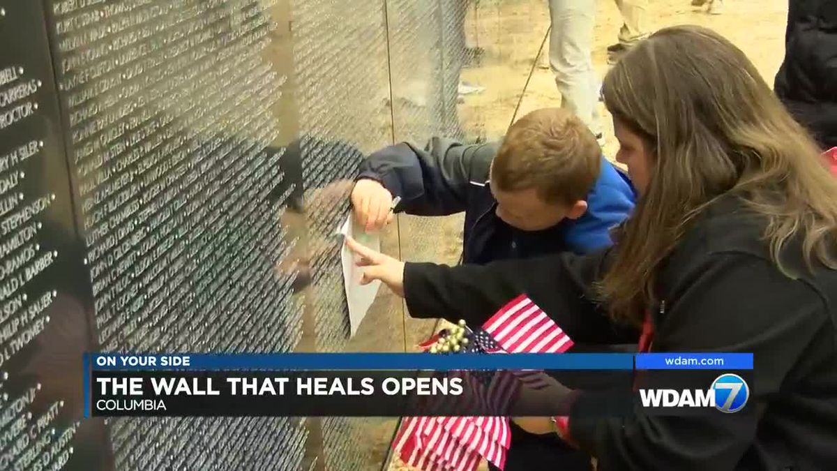 The Wall That Heals opens for visitors in Columbia