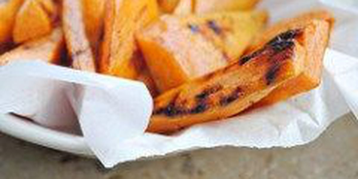 Healthy snack alternative: sweet potato fries