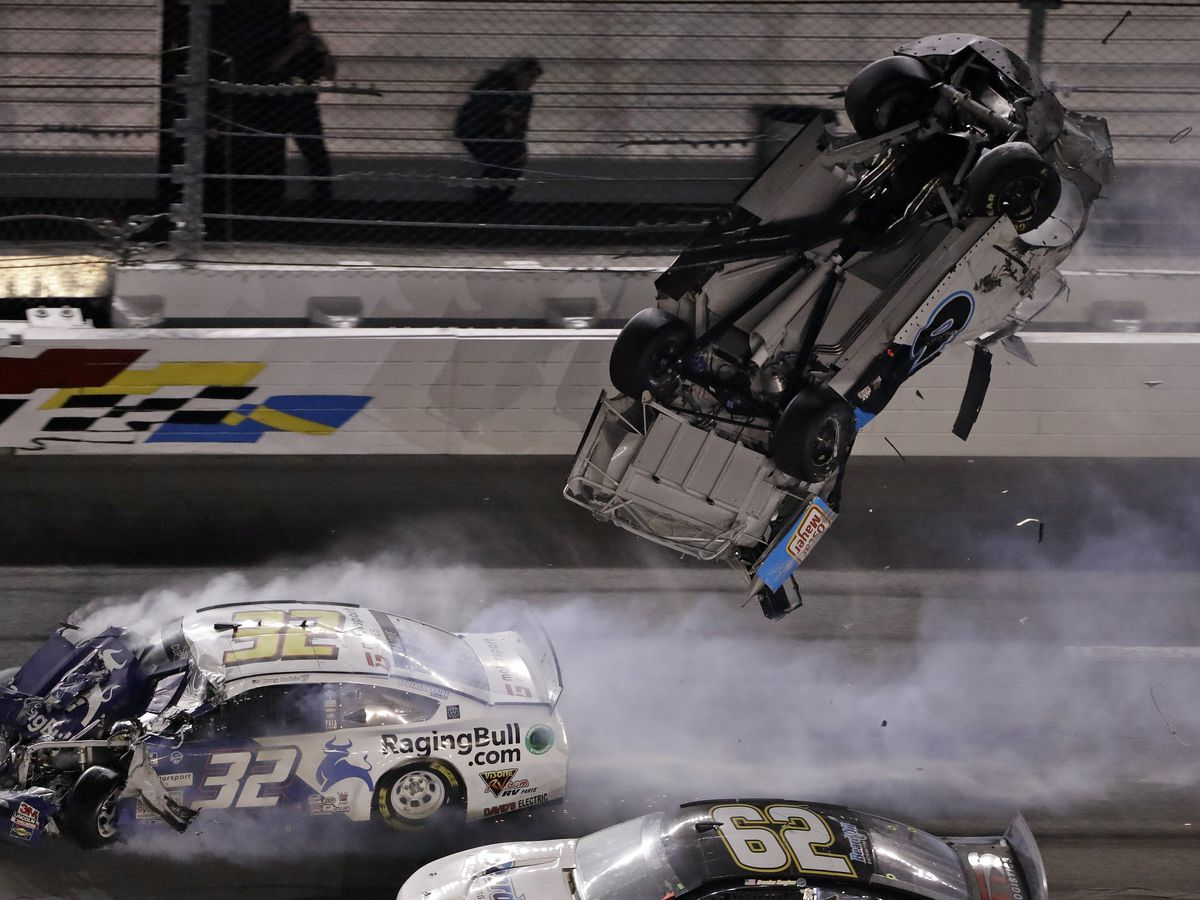 Newman 'awake and speaking' after fiery Daytona crash