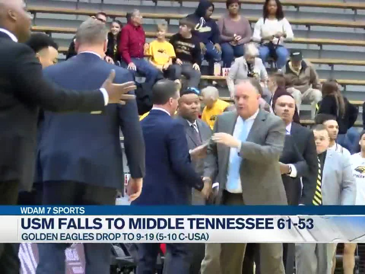 MTSU stifles USM to take 61-53 C-USA men's basketball win