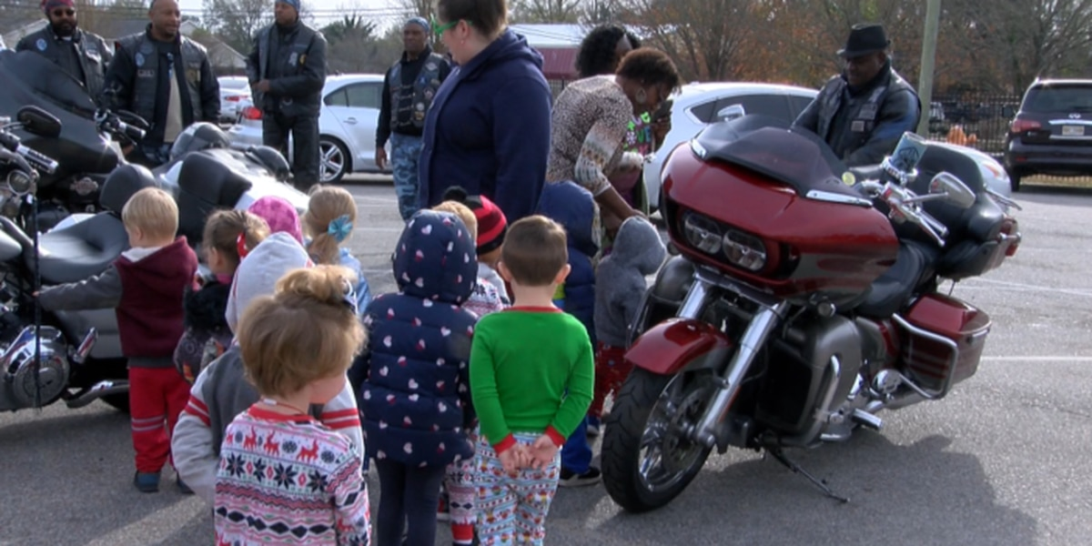 Motorcycle club spreads Christmas cheer through gift giving