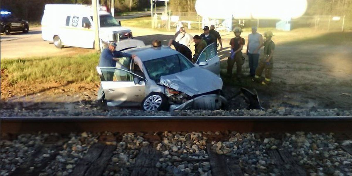 Minor injuries reported after train hits car in Collins