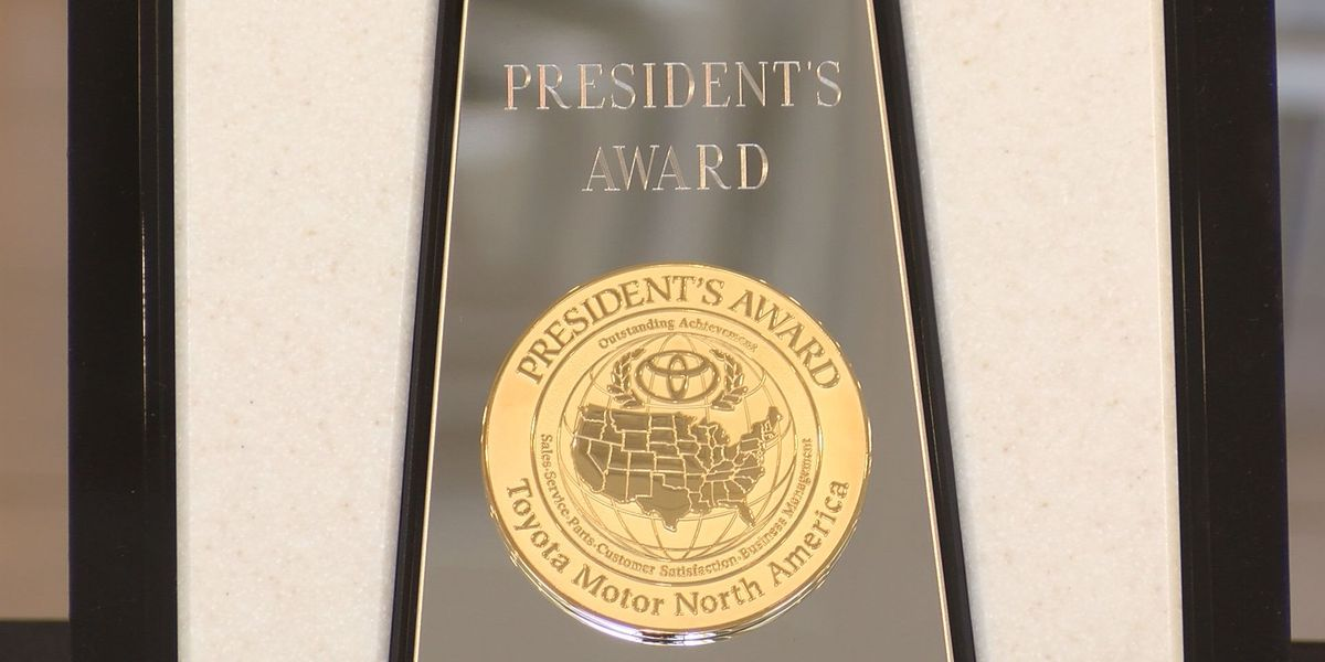 Toyota of Hattiesburg receives President's Award