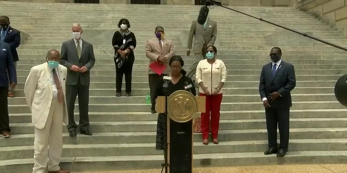 'Today is a good day for Mississippi': Miss. Legislative Black Caucus celebrates removal of flag