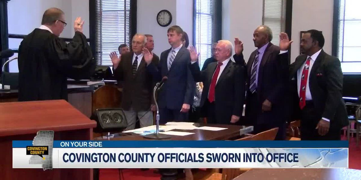 Covington Co. elected officials sworn into office