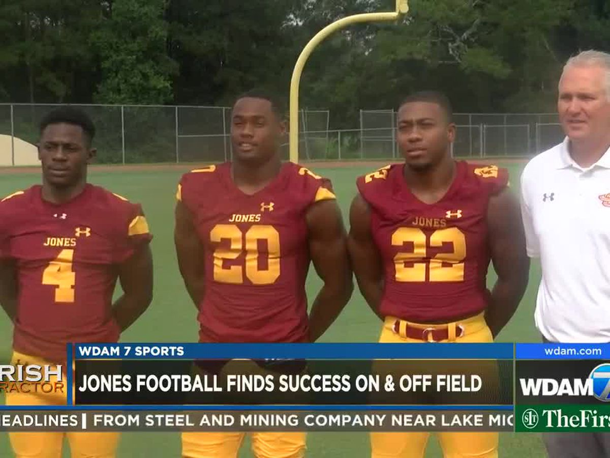 Jones football building championship program on and off field