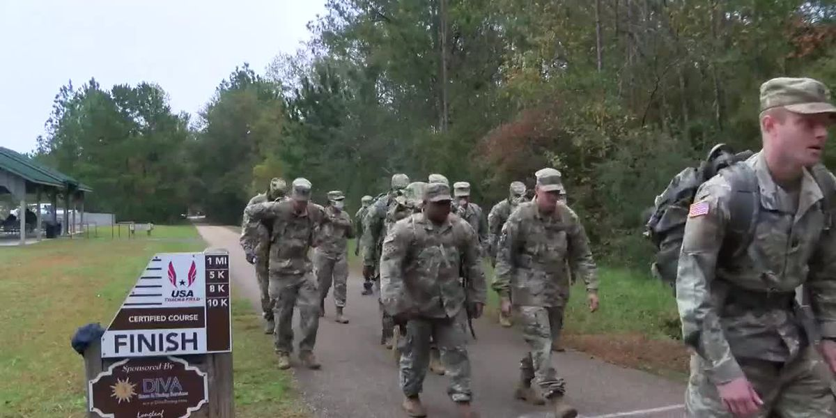 Camp Shelby soldiers hold annual canned food ruck march