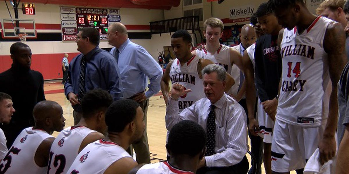 William Carey takes down Rust, 94-49