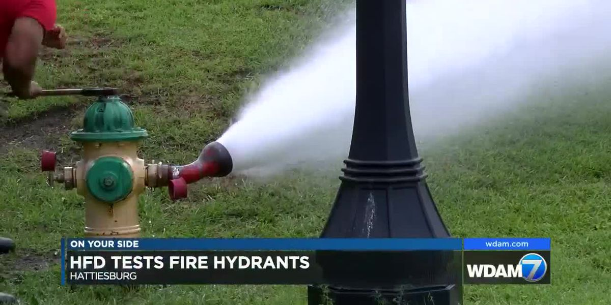 Hattiesburg Fire Department tests fire hydrants