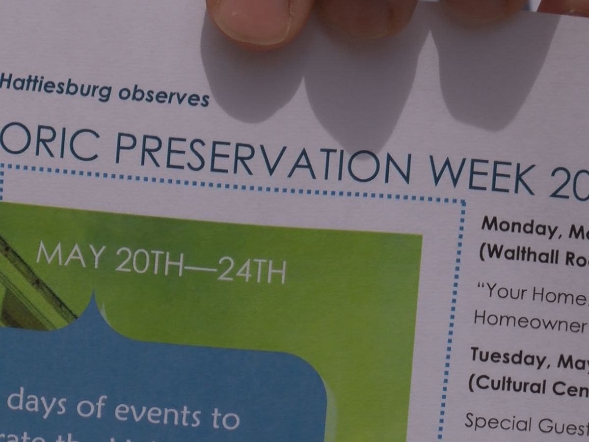 City of Hattiesburg begins Historic Preservation week