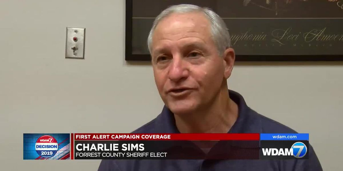 Sims reacts to win in Forrest County sheriff's race