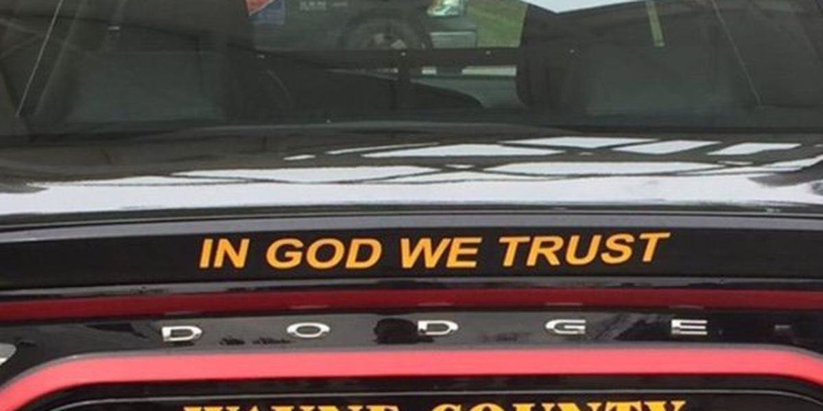 """In God We Trust"" decals added to Wayne County Sheriff's Department vehicles"