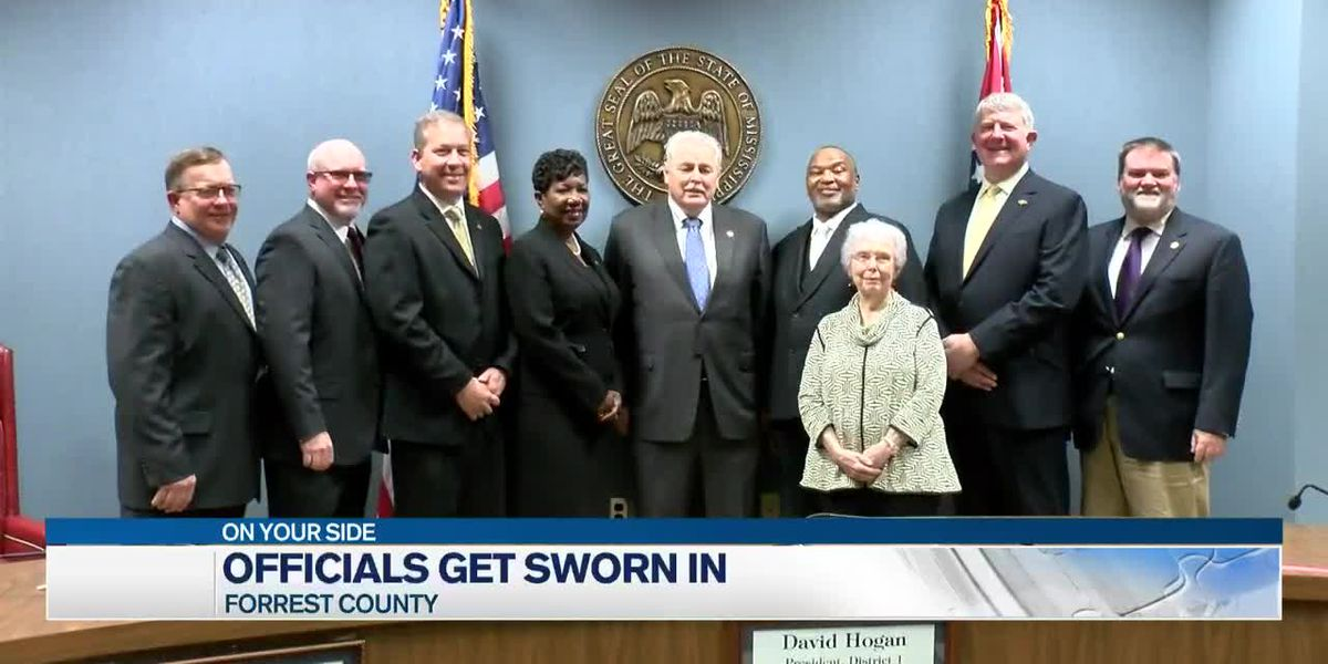 Newly elected Forrest County officials take oath of office